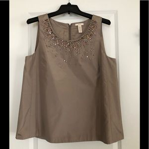 NWT - Sleeveless, Silk and Sequin/Beaded Shirt
